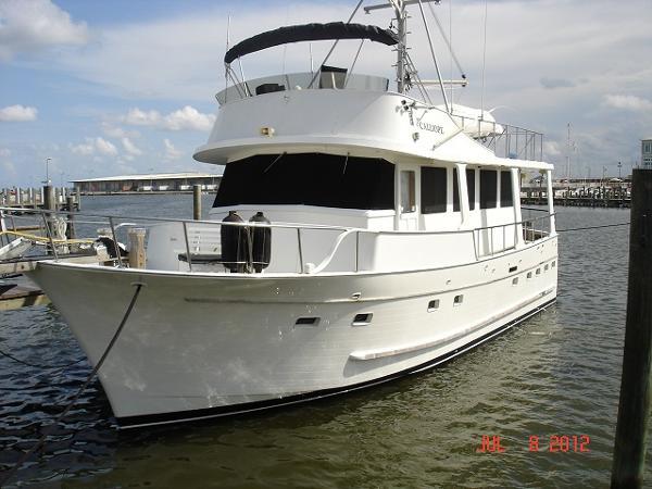 Marine Trader 3 Stateroom Trawler 50' Marine Trader port forward profile