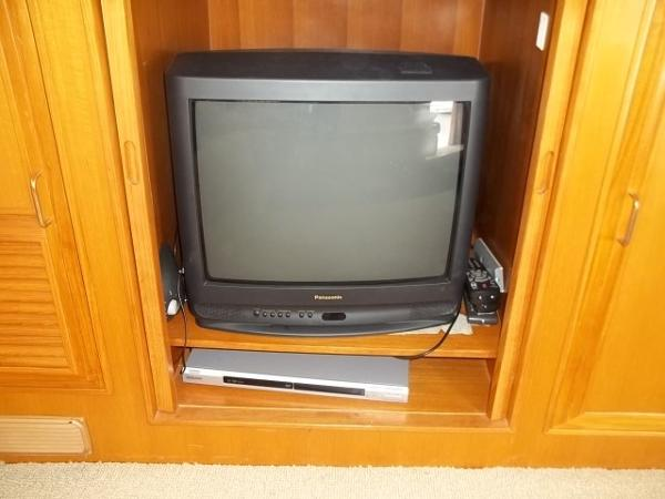 TV in entertainment center in Sundeck