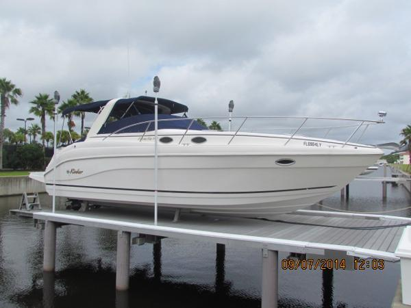 Rinker 342 Fiesta Vee lift stored until 2015