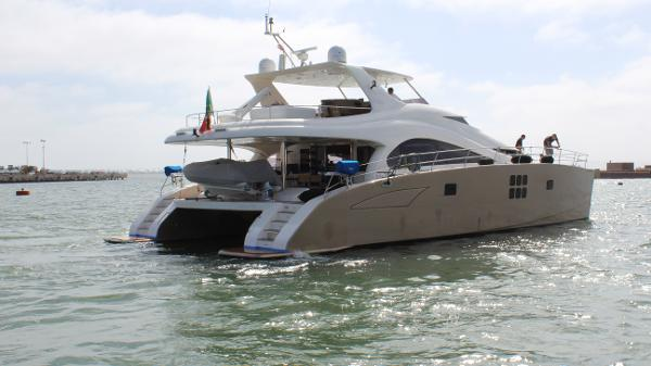 Sunreef 70 Power Catamaran Starboard stern view