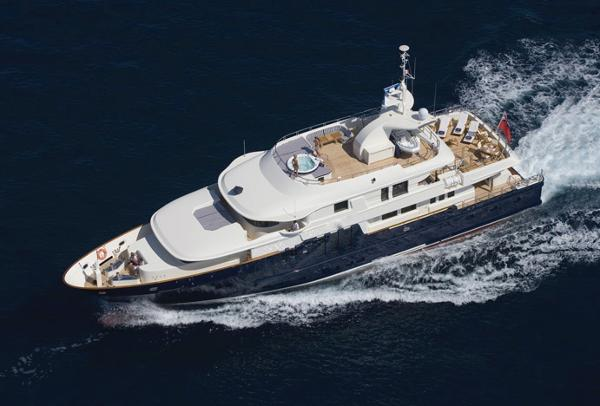 Custom Line Mega Yacht Under Way