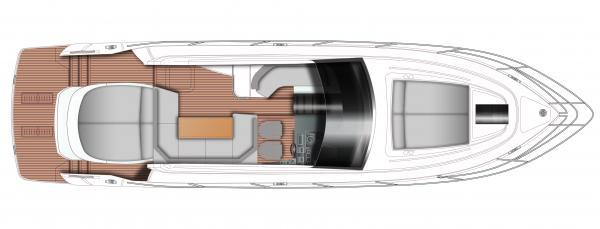 Princess V48 Open Upper Deck Layout Plan