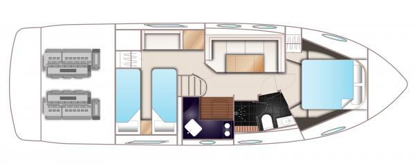 Princess V39 Lower Deck Layout Plan