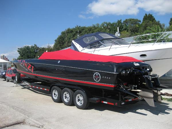 Donzi 38 ZR with 1075 SCI's! This is the actual boat. Contact us for more pictures.