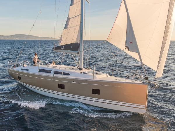 Hanse 418 #229 Under Sail Stock Image