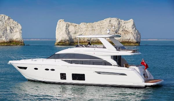 Princess 68 Motor Yacht Port Side