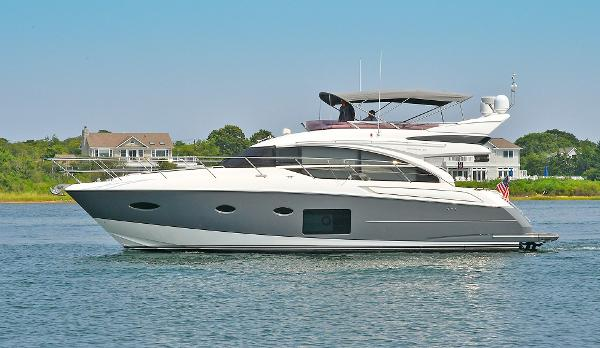 Princess 52 Flybridge Yacht Port Side