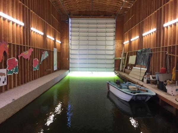 74' Custom Boat House  Looking Into Boat Well