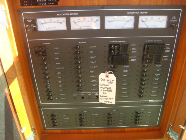 42' Nordic Tug electrical panel