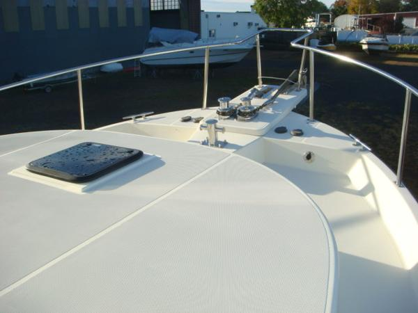 42' Nordic Tug foredeck