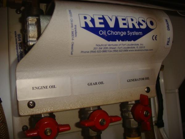 42' Nordic Tug oil change system