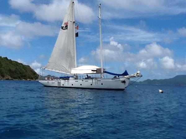 Custom Daysail Charter Yacht At Anchor