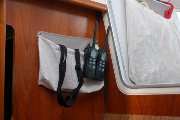 Companionway easy to grab storage