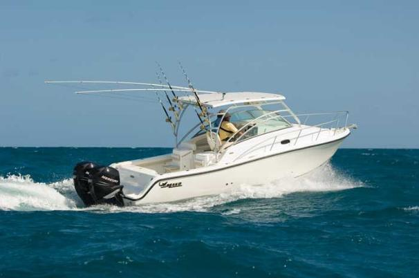 Mako 284 Express Manufacturer Provided Image: The MAKO 284 Express is a 28-foot family fishing craft with a versatile layout.