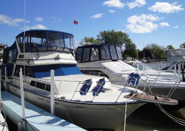 Marinette 37 Motor Yacht Dockside