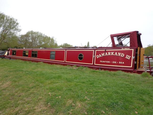 Narrow Boat G&J Reeves Hull Trad Stern fit out Blue Haven Damarkland III side on