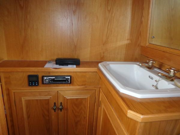 Master Cabin storage and wash area