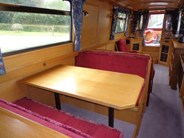 Dinette converts to double berth