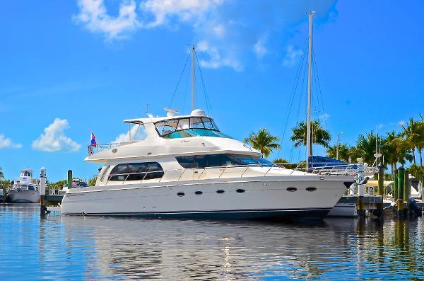 Carver Flybridge Motor Yacht Starboard Profie