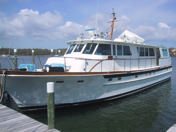 Bertram Motor Yacht Port Side view