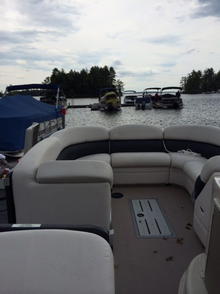 2012 Grand Isle 250 Premier Tri-Toon for sale in Raymond, ME