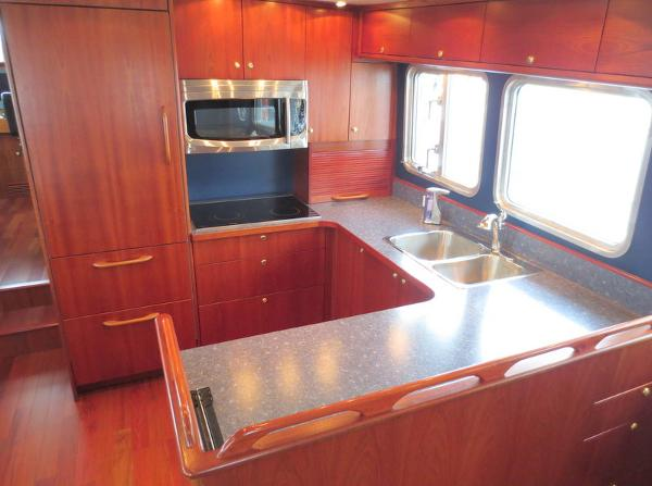 Shot of galley area at entry door aft