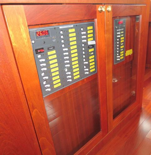 Ship's electrical control panel mid-ship aft of PH