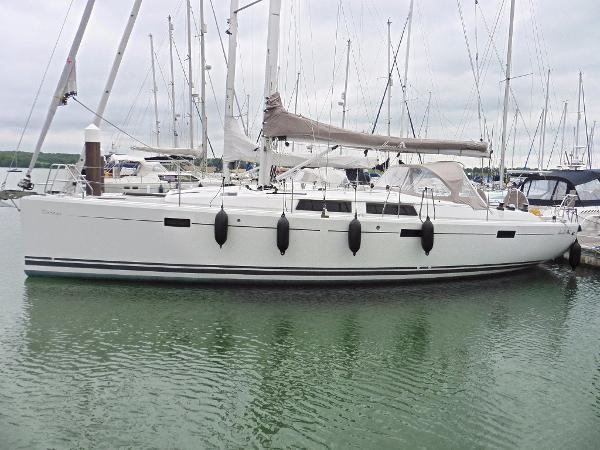 Hanse 415 Moored at home berth