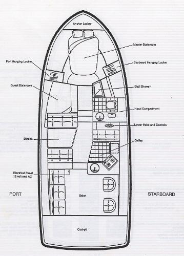 Interior 2 stateroom floorplan