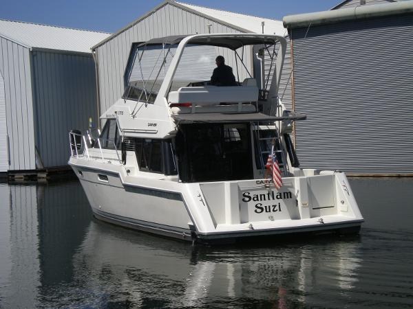 Stern view w/transom door