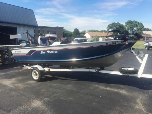 Used aluminum fish sylvan boats for sale for Sylvan fishing boats