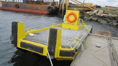 26' x 10' Steel Barge with CC & Push Knees