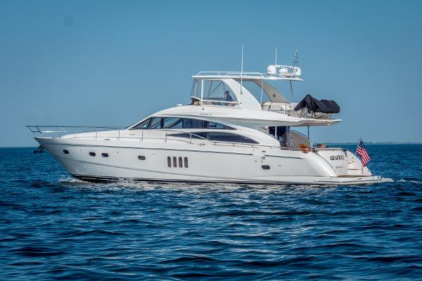 Princess 67 Flybridge Motor Yacht Port Side