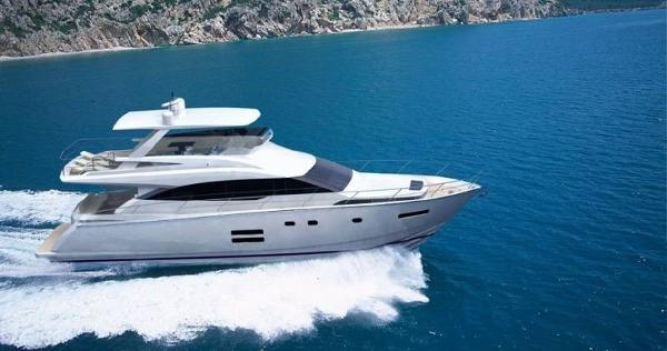 Johnson 65' Flybridge Motor Yacht Running