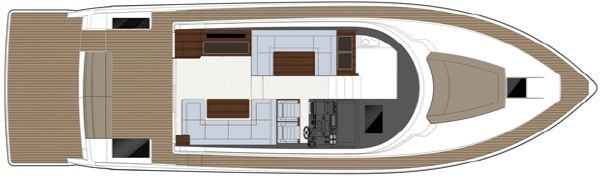 Sealine F490 Upper Deck Diner Layout