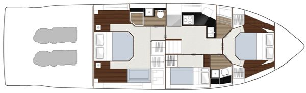 Sealine F490 Layout Option Lower Deck Bunks