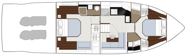 Sealine F490 Layout Option Lower Deck