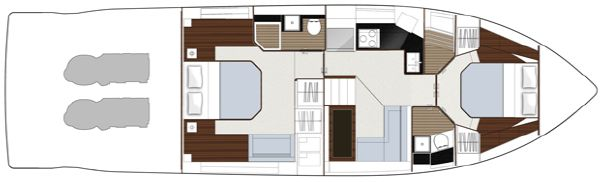 Sealine F490 Layout Option Lower Deck Office