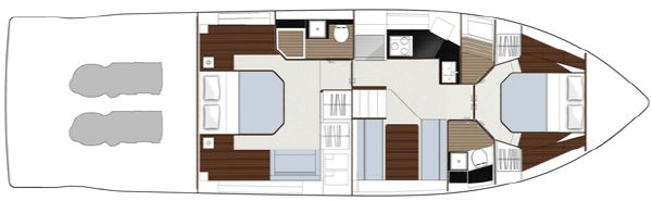 Sealine F490 Layout Option Lower Deck Original