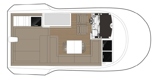 Sealine F490 Flybridge Layout A