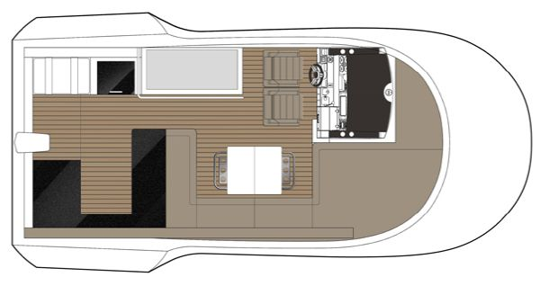 Sealine F490 Flybridge Layout B