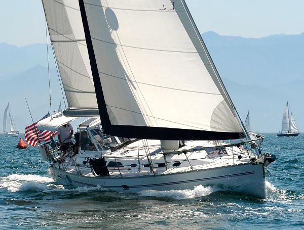Catalina 470 Di's Dream hard on the wind