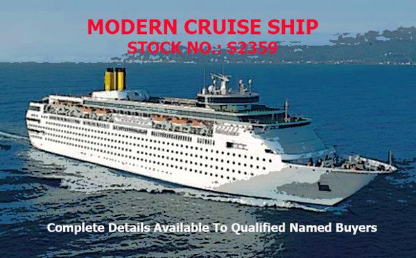 Cruise Ship, 1700 Passengers -Stock No. S2359