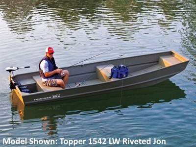 Tracker Topper 1236W Riveted Jon