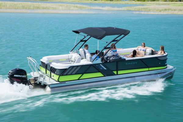 Crest Pontoon Boats Caliber 230 SLC Manufacturer Provided Image