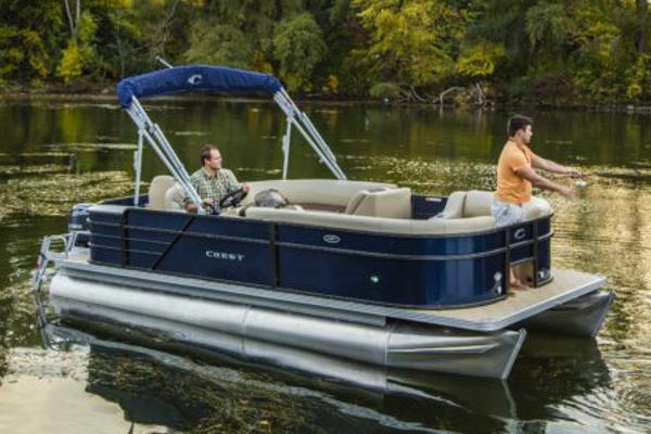 Crest Pontoon Boats I Fish 220 C4
