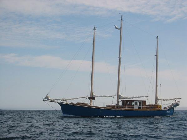 Pilothouse three masted marconi rigged Schooner