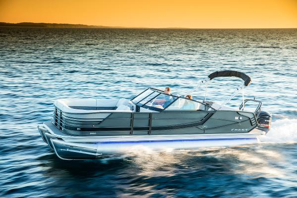 Crest Pontoon Boats CONTINENTAL 250CS Tri-toon