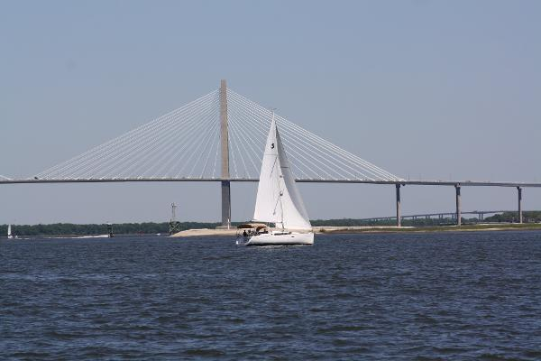Beneteau 37 Sailing on Charleston Harbor