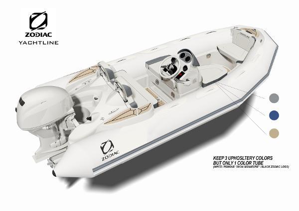 Zodiac Yachtline 440 Deluxe NEO 60hp In Stock Artist Rendering of a Zodiac YL360